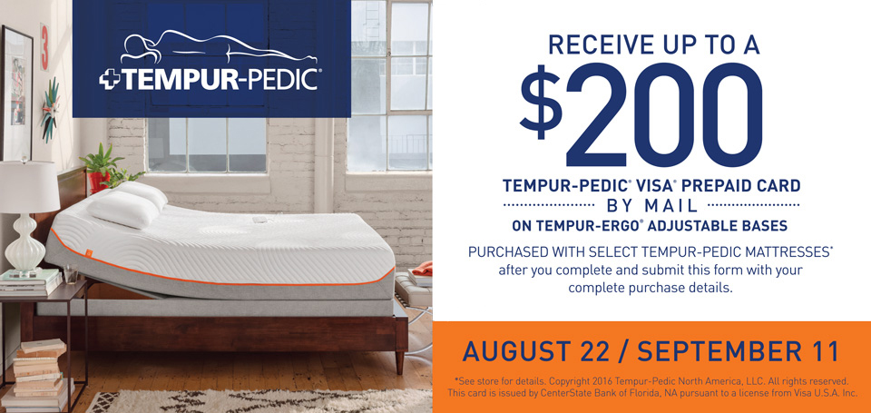 TEMPUR Pedic Rebate